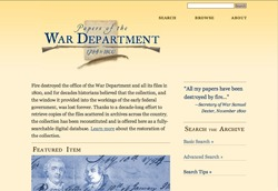 Papers of the War Department 1784-1800