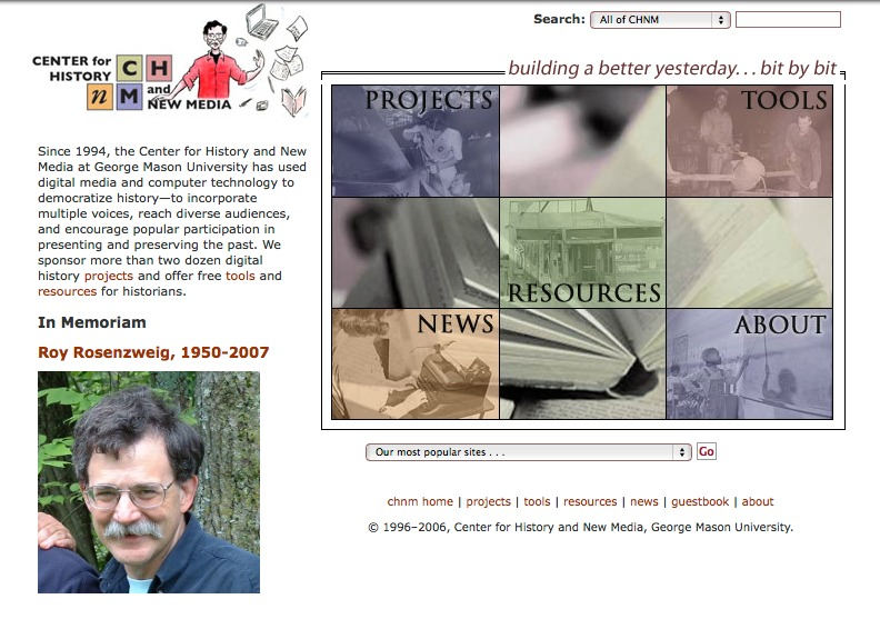CHNM Website October 2007