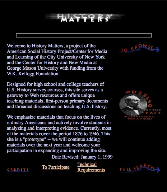 History Matters: The U.S. Survey Course on the Web