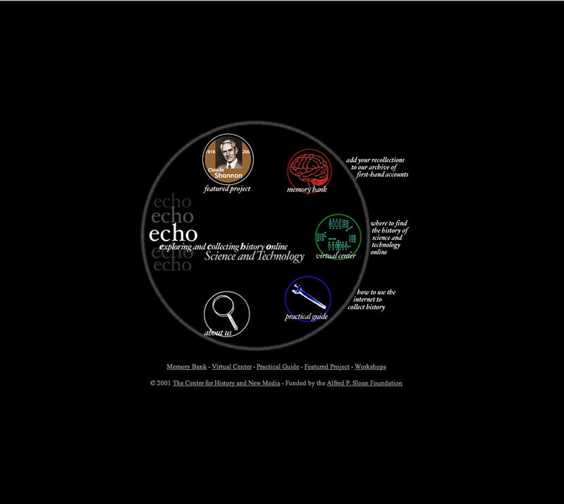 Fostering the Recent History of Science and Technology in New Media (Echo 1)