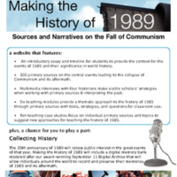 Making the History of 1989: Sources and Narratives of the Fall of Communism