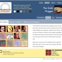 Gold Nugget Explore Page of the Object of History Website Screenshot