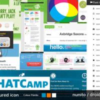 Website Design - coloured icon mood board