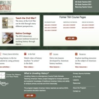 Home page, Unveiling History