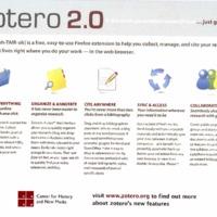 Zotero 2.0 flyer