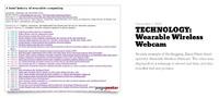 Wearable webcam